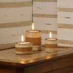 Circle Candle Set of 3 from Rattan - 5C RTN 058