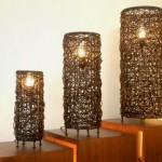 Cylinder Rattan Lighting Set of 3 - 5c rtn 011