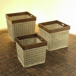 Basket Rattan with Wood Frame - 5c-rtn-017