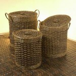 Round Rattan Basket with Close Up - 5c-rtn-067