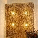 Rattan Screen with Lighting - 5c rtn 069