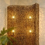 Rattan Curly Screen with Lighting &#8211; 5c rtn 092