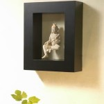 Sitting Buddha Statue with Square Frame - 5c stn 044