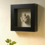 Sitting Buddha Statue with Square Frame - 5c stn 045