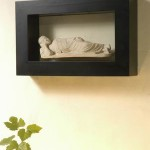 Sleeping Buddha Statue with Square Frame - 5c stn 046