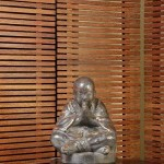 Sitting Buddha Statue with Square Foot - 5c tkt 038