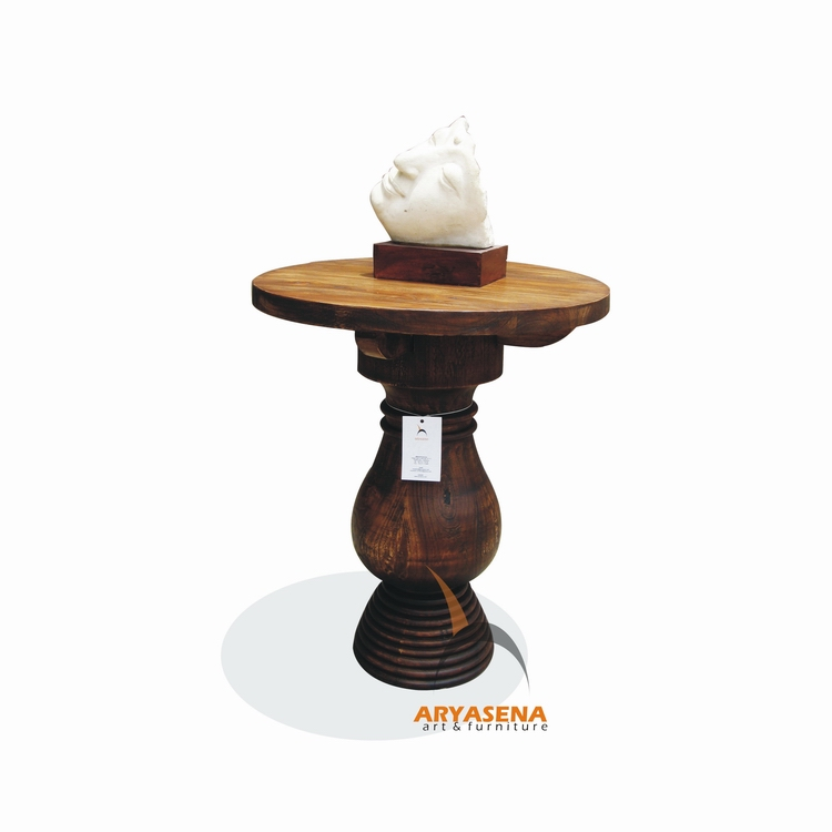Round table small from teak wood furniture for Small round wooden table