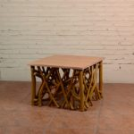 Coffee Table Twigs with Miindi Top - TWST 08-TP Mindi Top