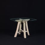 Twigs Table with Glass -  TWST 22-IG