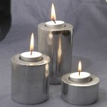 Circle Candle from Aluminium Set of 3 - al.002.tt
