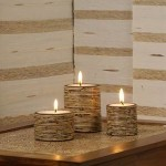 Circle Candle Set of 3 from Rattan - 5C RTN 059