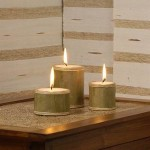Circle Candle Set of 3 from Rattan - 5C RTN 060