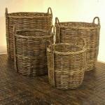 Round Rattan Basket - 5c-rtn-021