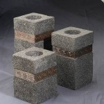 Square Candle Set of 3 from Stone - 5c stn 007