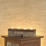 Rectangle Candle from Stone - 5c stn 016