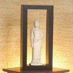 Standing Buddha Statue with Square Frame - 5c stn 042