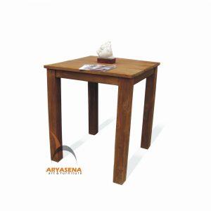 ASN 04 - Assen Bar Table - Teak Rustic 90x90x105