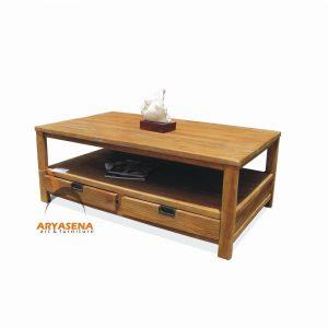 ASN 07 - Assen Coffee Table with 2 Drawers - Teak Rustic 120x70x45