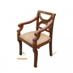 Barcelona Arm Chair with Leather Seat - LGCH 01