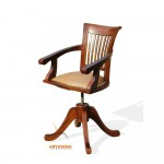 Madrid Swivel Arm Chair with Leather Seat - LGCH 02