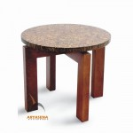 Coco Table with Round Top Resin - T 015