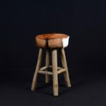 Stool with Leather Goat - TWST 18-T2