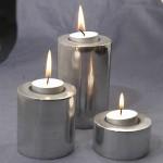 Circle Candle from Aluminium Set of 3 - al.002.tt